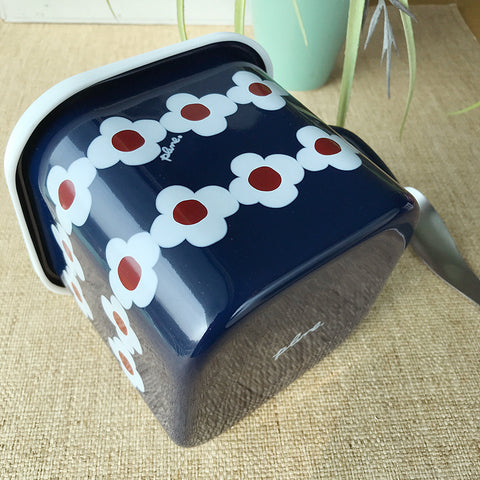 Plune日本琺瑯食物貯存盒連手柄 Plune Enamel Food Storage Box with Handle