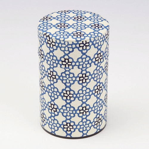 和紙茶罐 Washi Tea Canister - Flori