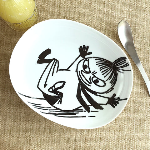 姆明與阿美釉裡彩餐碟 Moomin and Little My Inglaze Painting Plate