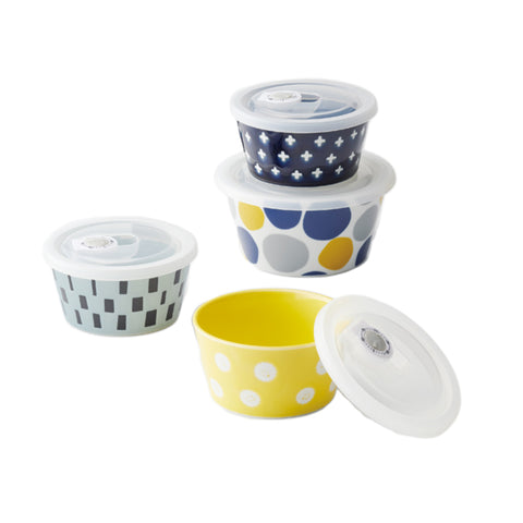 Mokki 氣密保鮮碗套裝 Mokki Airtight Storage Bowl Set