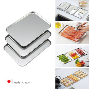 日本不銹鋼淺型料理盤 Japan Stainless Steel Shallow Cooking Tray