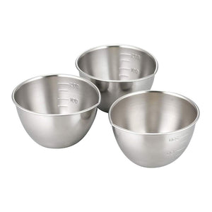 日本不銹鋼刻度小碗套裝 Japan Stainless Steel Measure Bowl Set