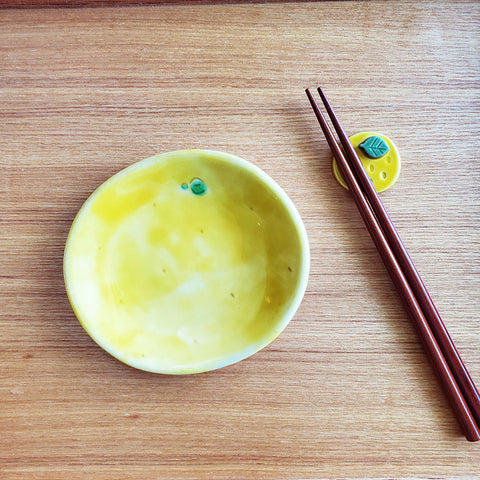 柚子手工陶瓷筷子托架 Yuzu Minoware Ceramic Chopsticks Rest