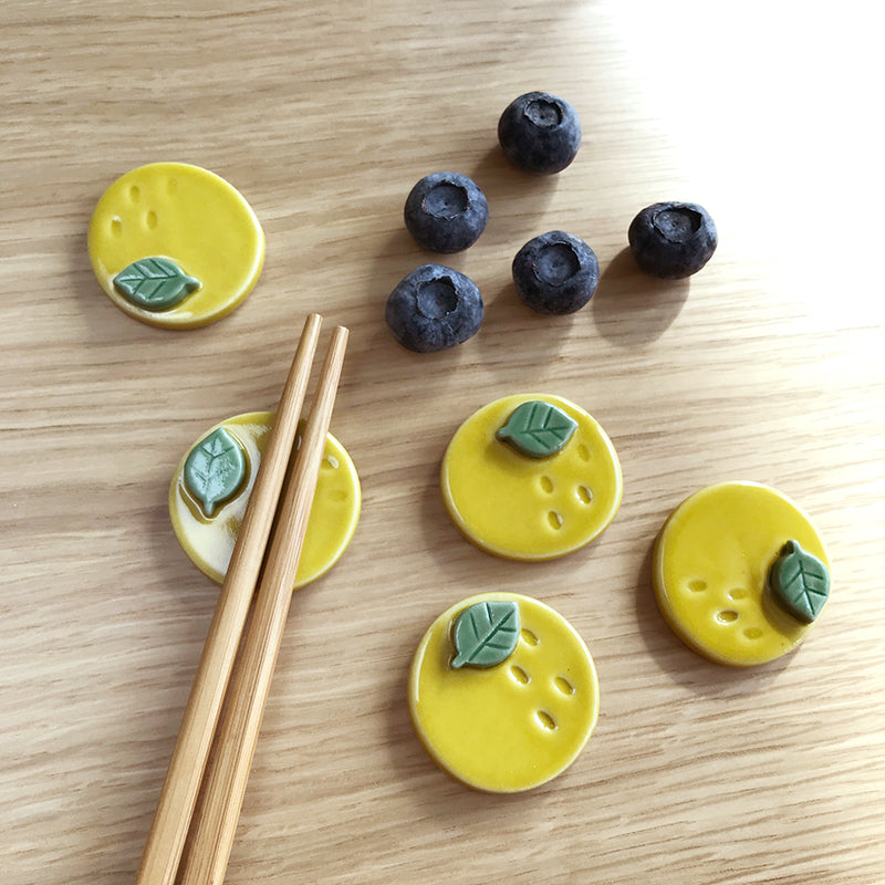 柚子手工陶瓷筷子托架*Yuzu Minoware Ceramic Chopsticks Rest