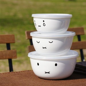 Miffy 琺瑯食物保鮮碗 Miffy Enamel Food Storage Bowl
