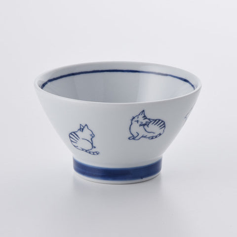 路地貓波佐見燒飯碗 Hasami Porcelain Kittens Bowl