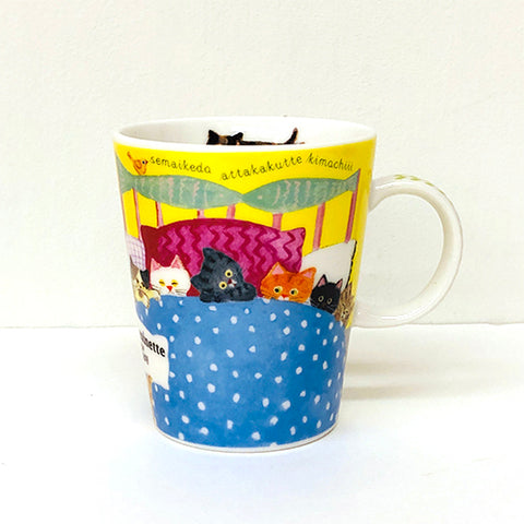 水彩畫貓兒陶瓷杯 - 午睡時間 Watercolor Cat Pottery Mug - Afternoon Nap