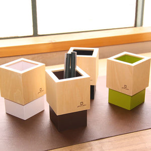 Yamato 日本木製筆座 (共4色)*Yamato Japan Wooden Pen Stand (4 colors)