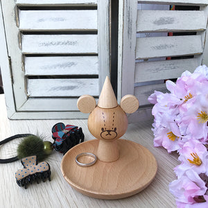 小熊Jackie木製飾物座 Jackie Wooden Accessories Holder