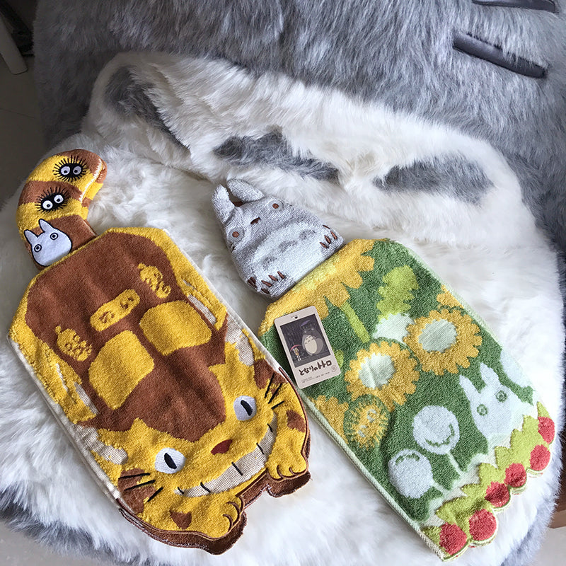 龍貓與貓巴士造型抹手巾 (3款選擇)*Totoro and Catbus Hanging Hand Towel (3 options)