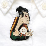 日本刺繡襟章 - 奴江戸兵衛 Japan Embroidery Button Brooch - Servant Edobei