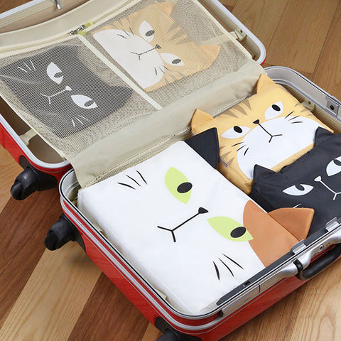 大頭貓收納袋 Love Neko Cat Storage Bag