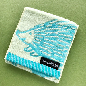 Lisa Larson hedgehog Iggy Pocket Towel 方形手巾兩用袋