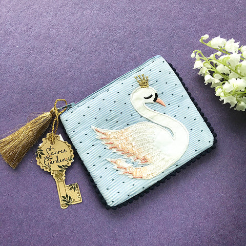 天鵝公主刺繡小包 Princess Swan Embroidery Pouch