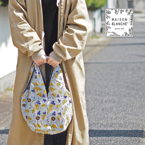 Maison Blanche 日本棉麻混纺布袋 Maison Blanche Square Bag
