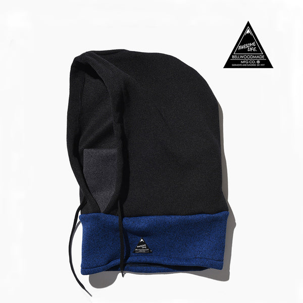 日本頭套圍巾 - Black x Blue*Bellwoodmade Hood & Neck Warmer - Black x Blue