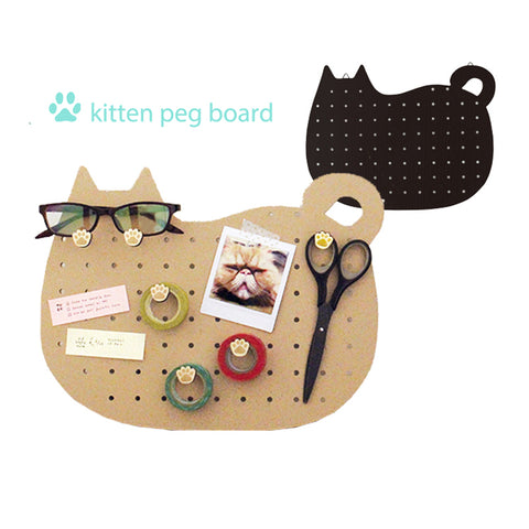 貓形釘板 Kitten Peg Board