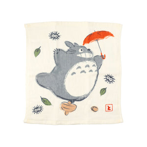 龍貓日本今治方巾 - 隨風飛舞 Totoro Imabari Gauze Wash Towel - Flying in the wind