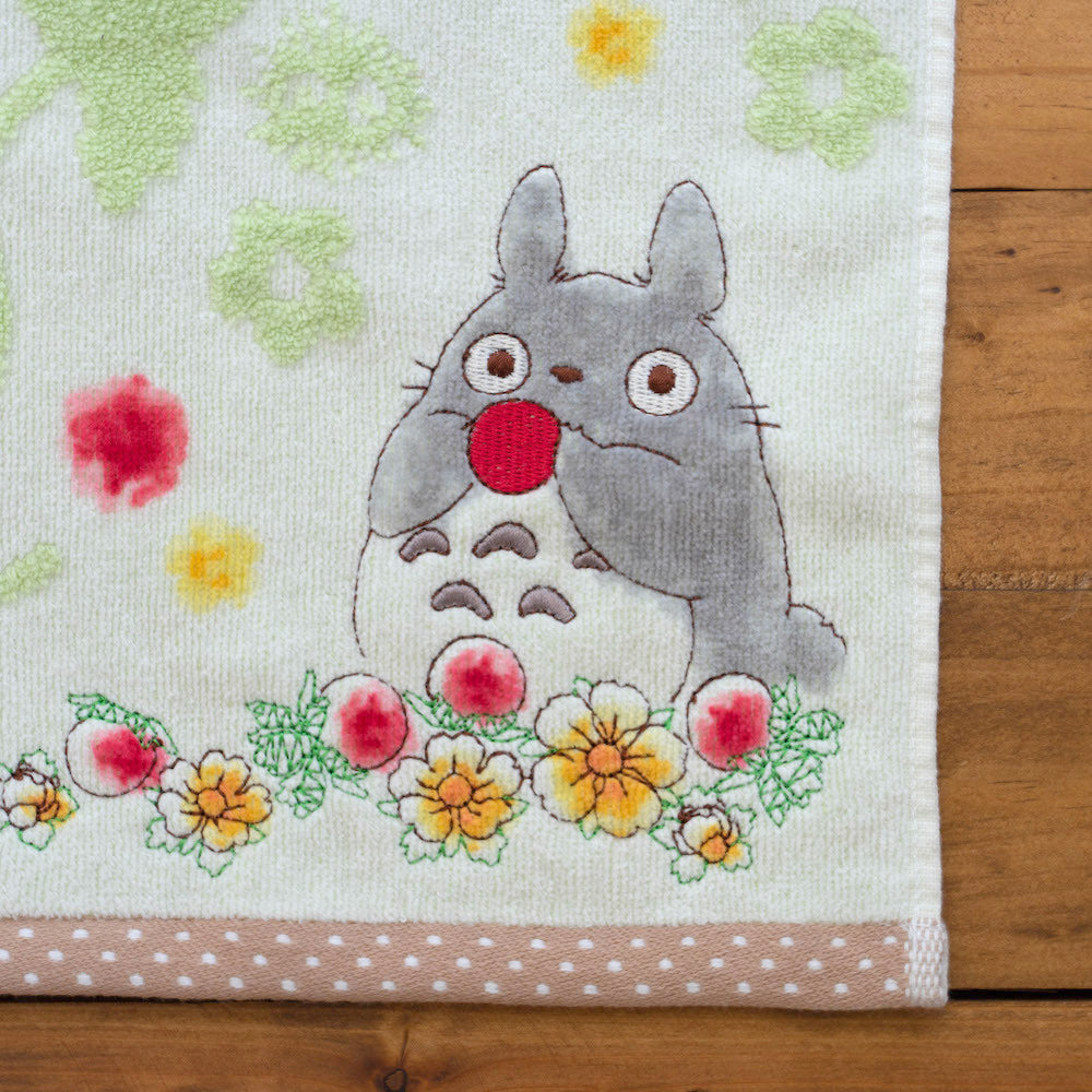 龍貓緹花面巾 - 士多啤梨 Totoro Jacquard Wash Towel - Strawberry