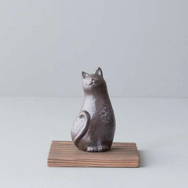南部鉄器貓咪線香座 Nambu Cast Iron Kitten Incense Stand