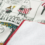 姆明漫畫日本製手帕 - 紅色 Moomin Comics Gauze Handkerchief - Red