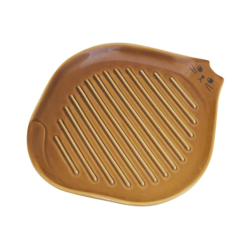 小貓坑紋吐司碟 Kitten Ribbed-base Toast Plate