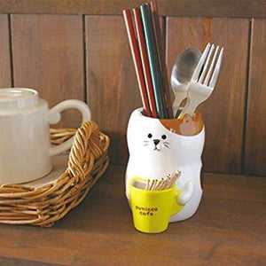 小貓陶瓷筷子座 Kitten Ceramic Chopsticks Stand