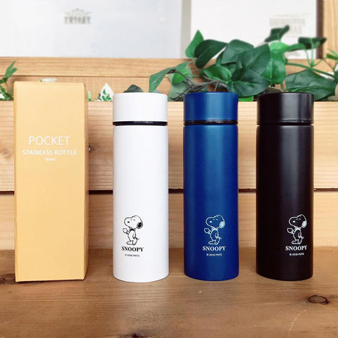 史努比迷你保溫瓶120ml - 黑色 Snoopy Mini Thermal Bottle 120ml - Black