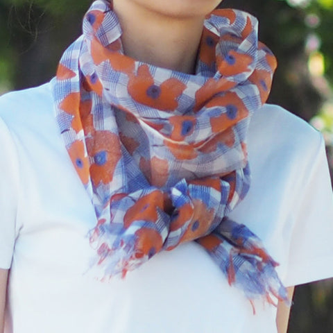 Maison Blanche日本製輕紗圍巾 Maison Blanche Japan Gauze Printed Scarf