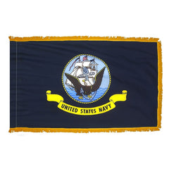 Navy Indoor Fringed Flag