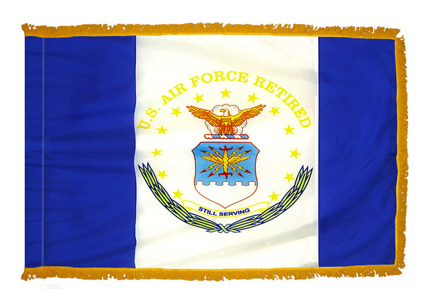 US Air Force Retired Indoor Fringed Flag