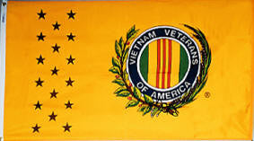 Vietnam Veterans Indoor Fringed Flag