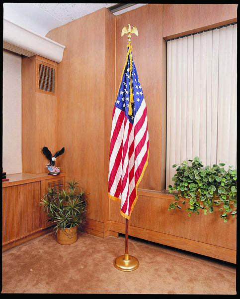 US 9' Indoor Flag Set - with 4 x 6' US Fringed Flag