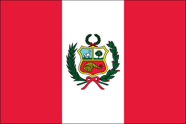 Peruvian Flag with Seal