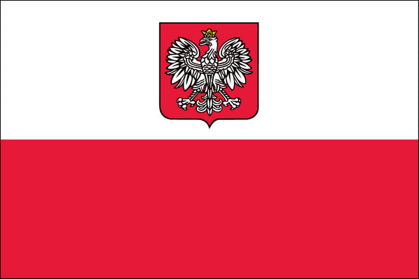 Poland with Eagle Flag