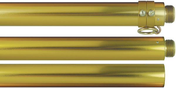 Gold Aluminum two piece parade pole, 9' x 1 1/4""