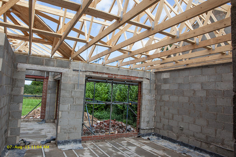 Property photography roof & walls of extension
