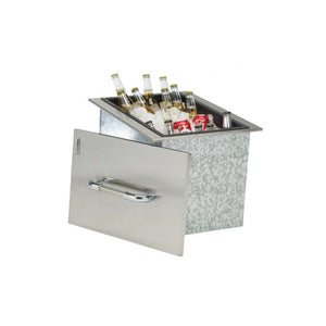 Drop In Stainless Steel Ice Bucket for a Built In BBQ - Gardenbox