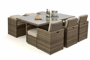 10 seater outdoor dining set packs away neatly to save space