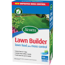 Scotts Lawn Builder Lawn Food Plus Moss Control - 100m2 - Gardenbox