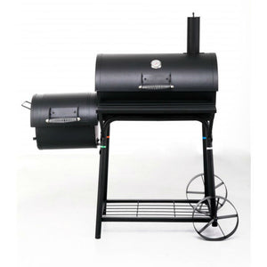 Tepro Biloxi Charcoal BBQ Smoker with side smoker