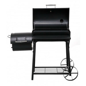 Tepro Biloxi Charcoal BBQ Smoker with lid open