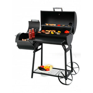 Tepro Biloxi Charcoal BBQ Smoker with side smoker open