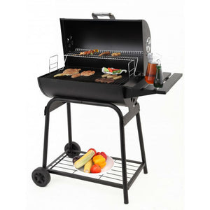 A simple to use Barrel style charcoal BBQ by Tepro