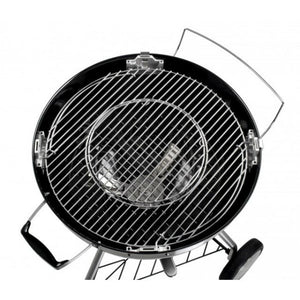 Interchangeable grill inserts on the Tepro San Francisco Kettle Charcoal BBQ