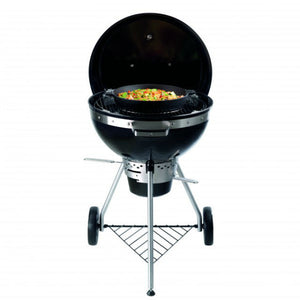 Wok pan on the Tepro San Francisco Kettle Charcoal BBQ