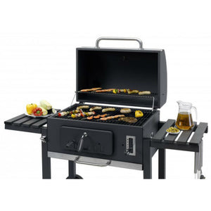 Tepro Toronto XXL Charcoal BBQ with lid open