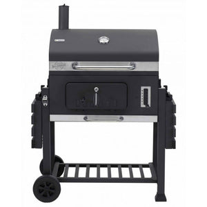 2 Side Shelves folded down on the Tepro Toronto XXL Charcoal BBQ