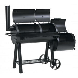 Twin Cooking Chambers and Side Smoker