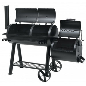 Large side smoker on the Tepro Indianapolis Heavy Duty BBQ Smoker